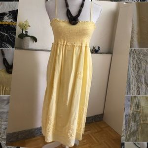 Dresses & Skirts - Yellow embroidered sundress